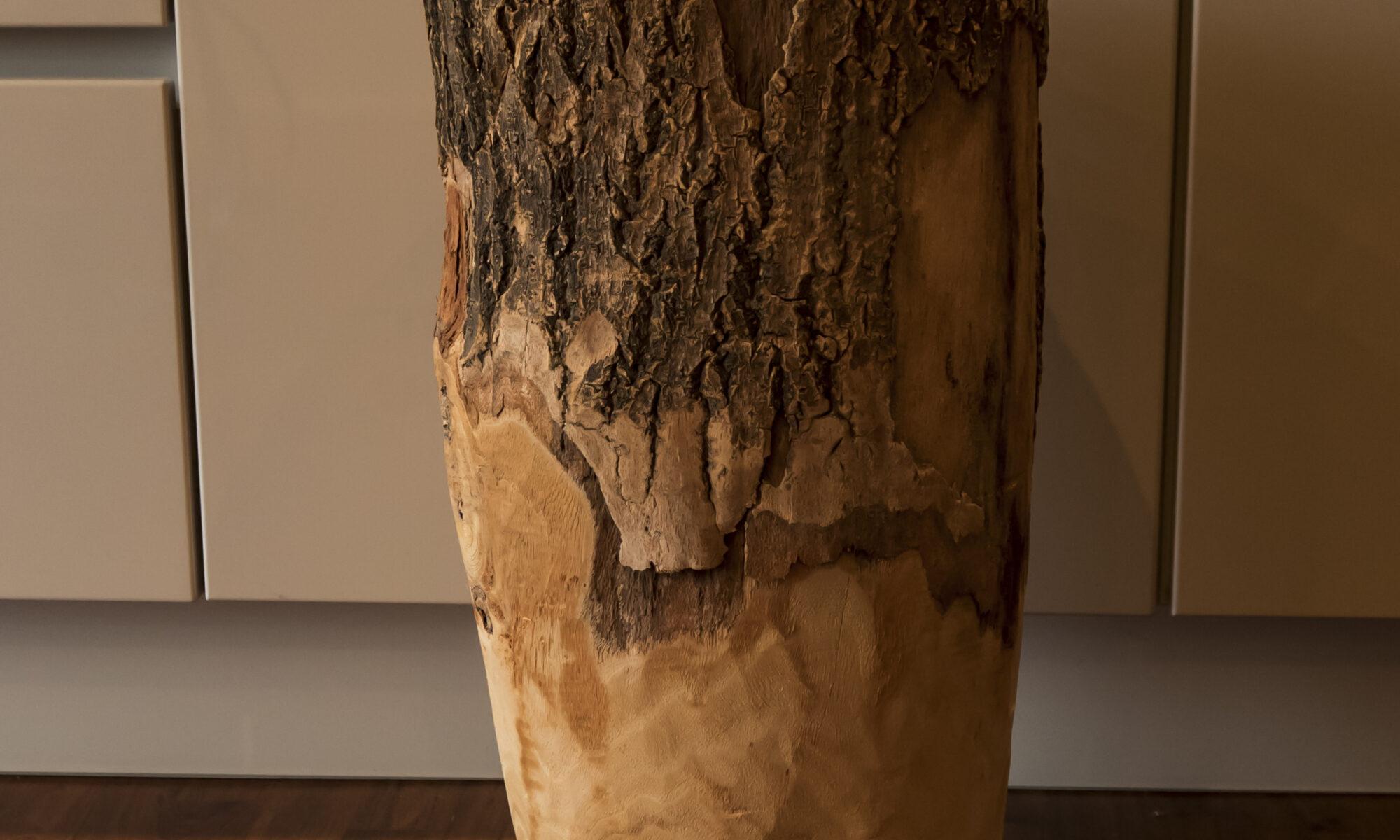 Deko Holz Vase